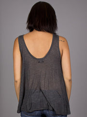 OBEY - Fresh Air Sheer Women's Tank Top, Heather Charcoal - The Giant Peach - 2