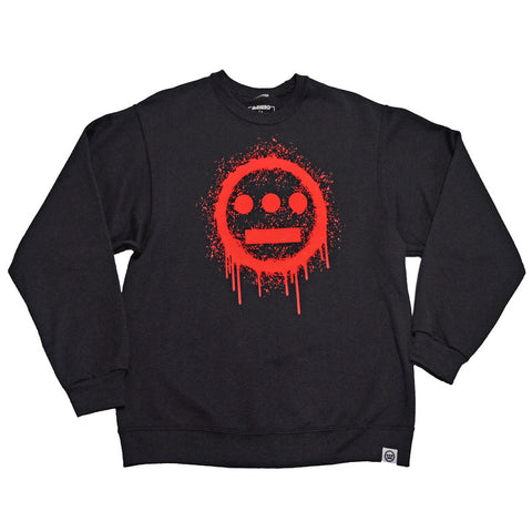 delHIERO - Splatter Men's Crewneck Sweatshirt, Black