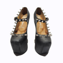 Jeffrey Campbell - Night Spike Women's Shoes, Black  Silver - The Giant Peach