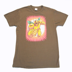 The Giant Peach - Robo Peach Men's Shirt, Chocolate - The Giant Peach - 1