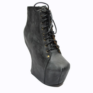 Jeffrey Campbell - Night Lita Women's Shoes, Black Distressed - The Giant Peach
