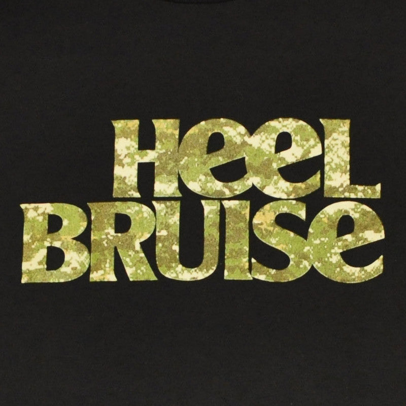 Heel Bruise - Camo Logo Men's Shirt, Black - The Giant Peach - 1
