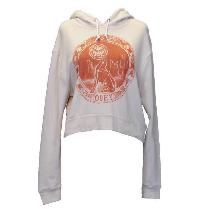 OBEY - Star Gazer Women's Hitcher Hoodie, Stone - The Giant Peach