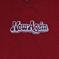 Now Again - Logo Shirt, Burgundy - The Giant Peach