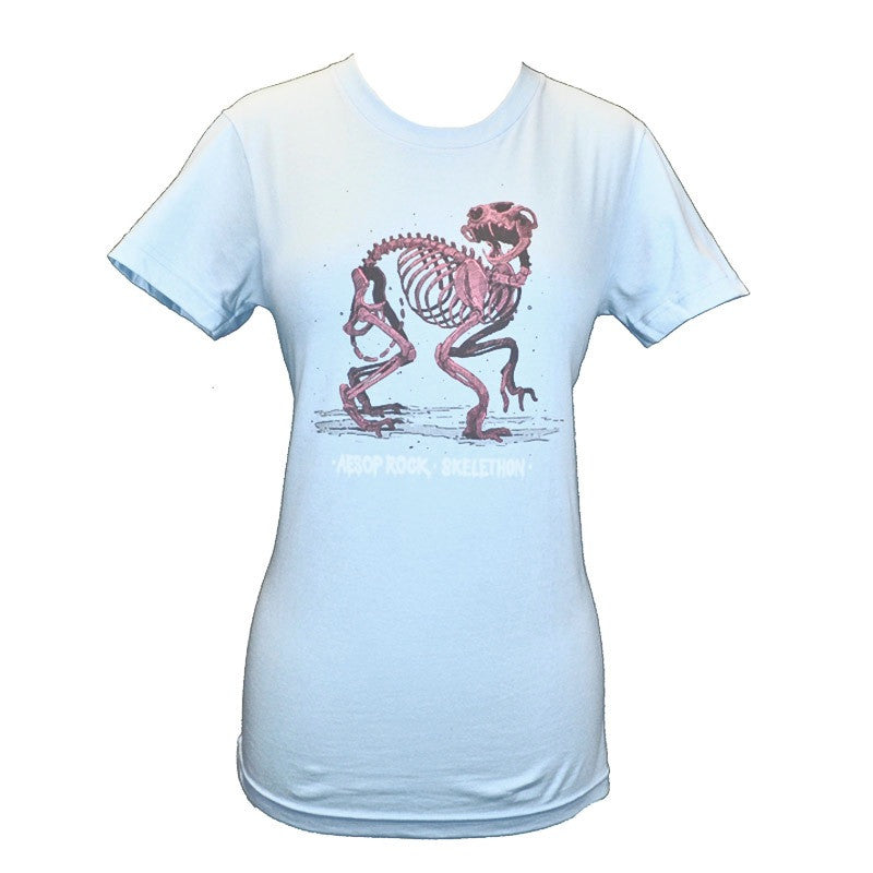 Aesop Rock - Skelethon Women's Shirt, Light Blue - The Giant Peach - 1