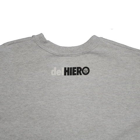 delHIERO - Splatter Men's Crewneck Sweatshirt, Heather Grey