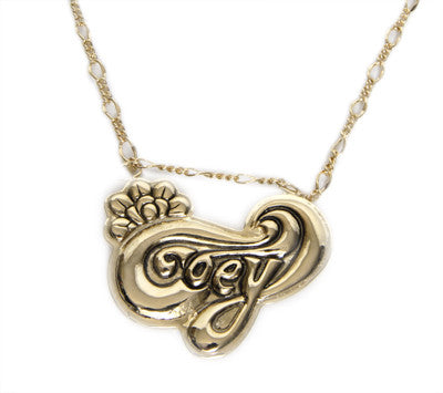 Obey - Wild Flower Necklace, Antique Gold - The Giant Peach