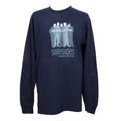 Solesides - Greatest Bumps Long-Sleeve Shirt, Navy - The Giant Peach