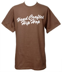 Embedded - Handcrafted Hip Hop Men's Shirt, Brown - The Giant Peach
