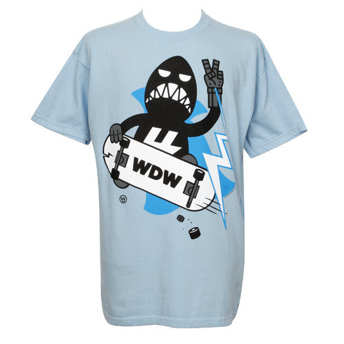 2K Wonderful! Design Works - Yoshiro Skate Men's Shirt, Light Blue - The Giant Peach