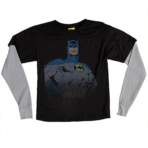 Junk Food - Batman L/S Youth Shirt, Black Wash - The Giant Peach