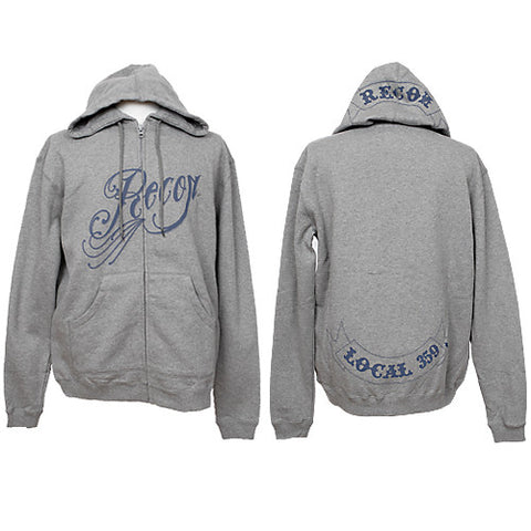 RECON - Filigree Men's Zip Hoodie, Heather Grey