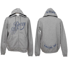 RECON - Filigree Men's Zip Hoodie, Heather Grey - The Giant Peach
