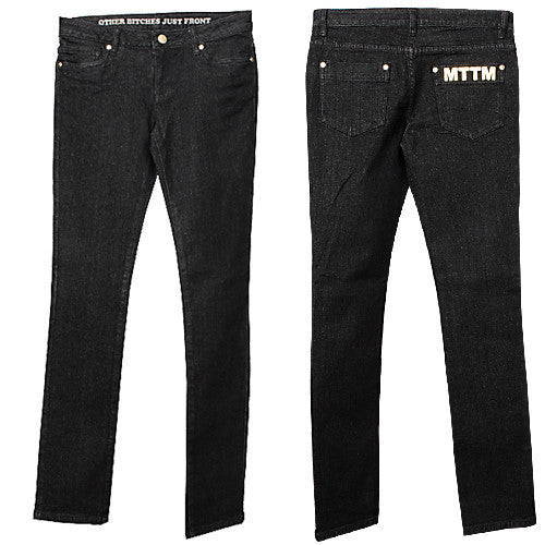Married to the Mob - Lick It Women's Jeans, Black - The Giant Peach