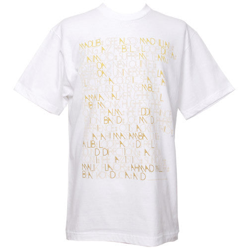 Stones Throw x Brent Rollins - Madlib Aliases Men's Shirt, White - The Giant Peach