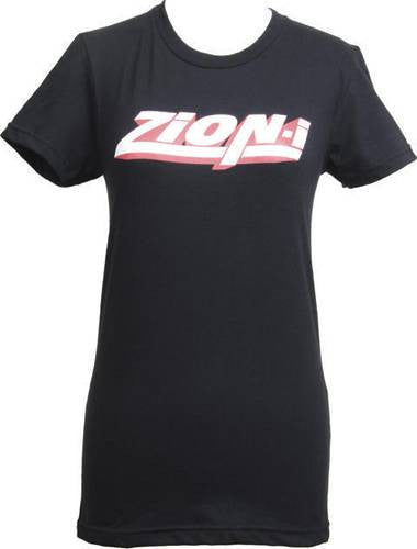 Zion-I - Red Logo Women's Shirt, Black - The Giant Peach