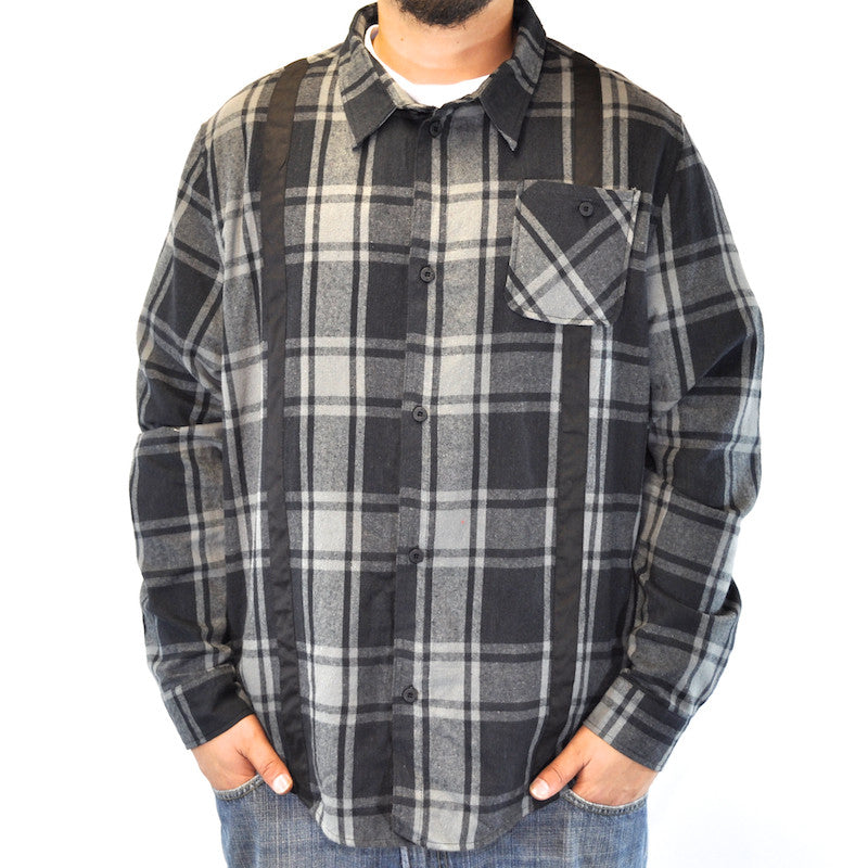 GPPR - Sharp L/S Woven Men's Buttoned-Down Shirt, Grey - The Giant Peach