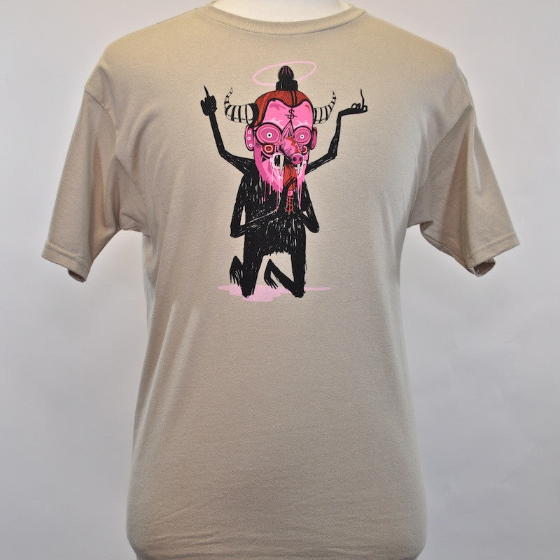 FIFTY24SF Gallery x Saner - Dark God Men's Shirt, Tan - The Giant Peach