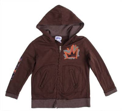 Lil' Loc - French Terry Toddler Zip Hoodie, Chocolate - The Giant Peach