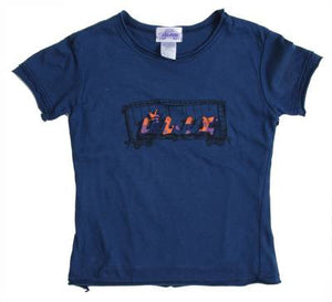 Lil' Loc - Double Layer Infant & Toddler Tee, Navy - The Giant Peach