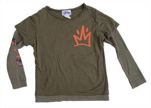 Lil' Loc - Thermal/Jersey L/S Infant & Toddler Tee, Olive - The Giant Peach