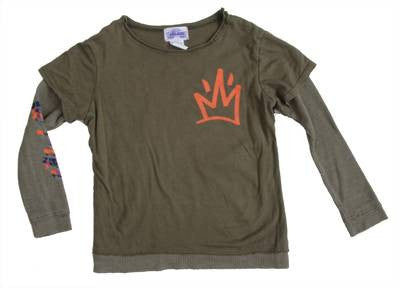 Lil' Loc - Thermal/Jersey L/S Infant & Toddler Tee, Olive