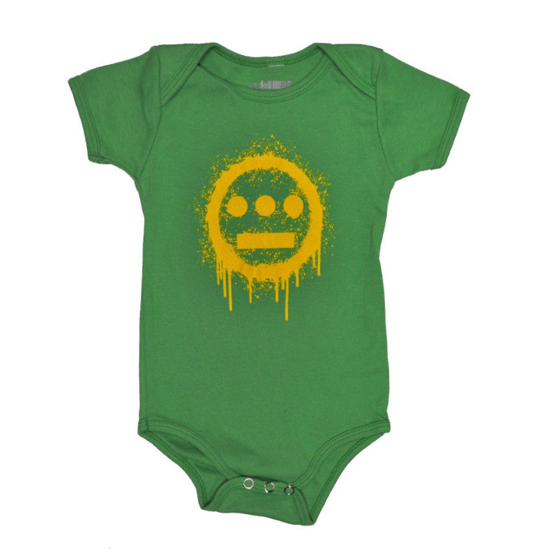 delHIERO - Splatter Infant Bodysuit, Kelly Green - The Giant Peach