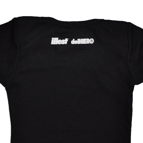 delHIERO x Illest Infant Bodysuit, Black