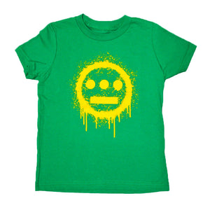 delHIERO - Splatter Kid's Tee, Kelly Green - The Giant Peach