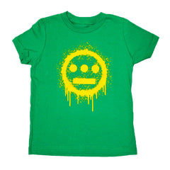 delHIERO - Splatter Kid's Tee, Kelly Green - The Giant Peach - 1