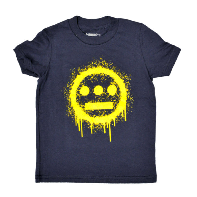 delHIERO - Splatter Kid's Tee, Navy - The Giant Peach - 1