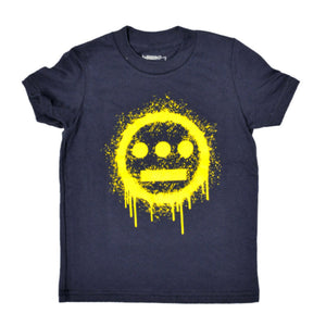 delHIERO - Splatter Kid's Tee, Navy - The Giant Peach