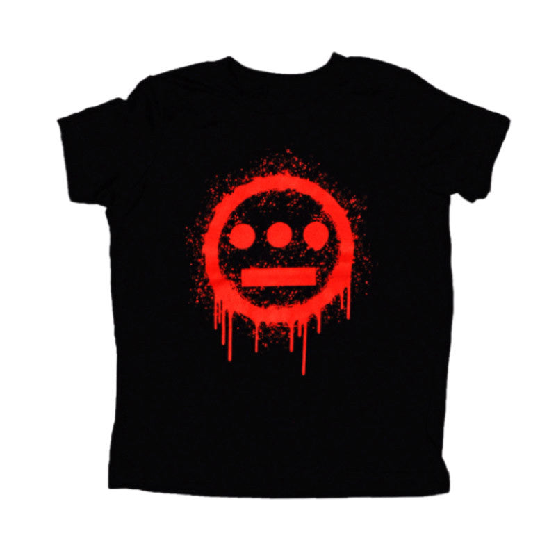 delHIERO - Splatter Kid's Tee,  Black - The Giant Peach - 1
