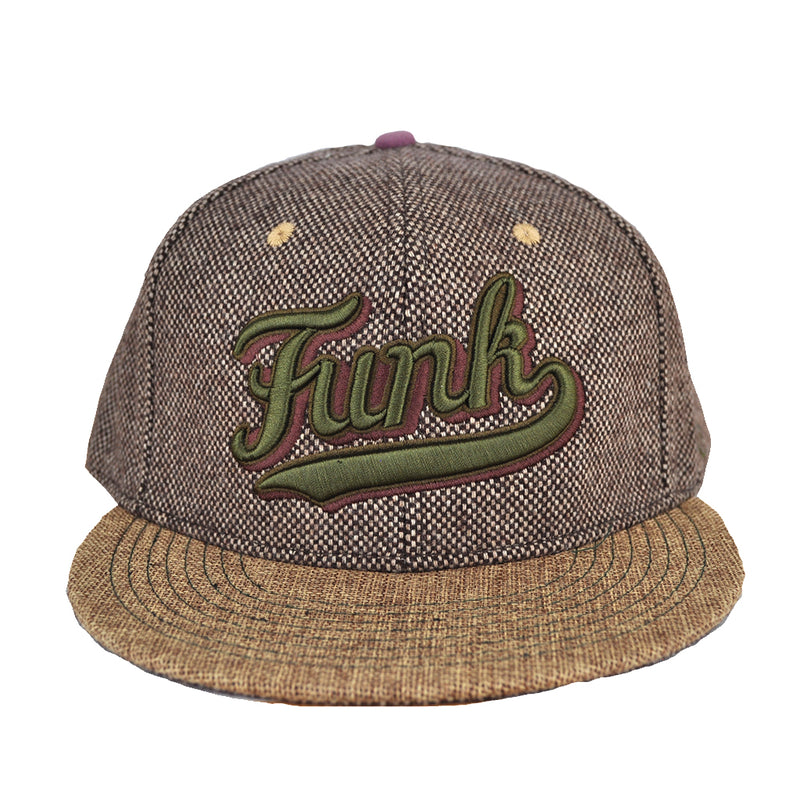 Grassroots X Del Fitted 'FUNK' Hat - Brown Tweed - The Giant Peach