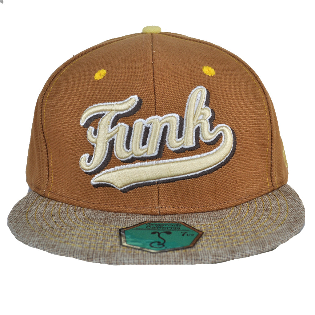 Grassroots X Del Fitted 'FUNK' Hat - Straw/Gold - The Giant Peach