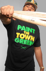 Adapt - Paint the Town Green Men's Shirt, Black - The Giant Peach - 1