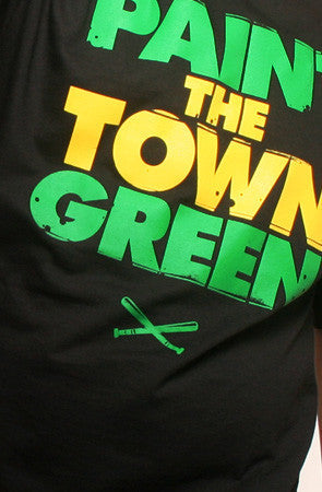 Adapt - Paint the Town Green Men's Shirt, Black - The Giant Peach
