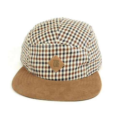 TRUE - Grown Man Plaid 5 Panel Snapback Hat, Tan