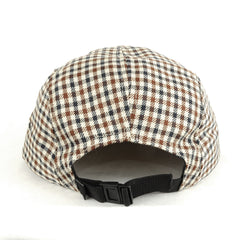 TRUE - Grown Man Plaid 5 Panel Snapback Hat, Tan - The Giant Peach - 3