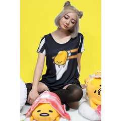 JapanLA x Gudetama - Lazy Striped Women's Top - The Giant Peach