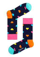 Happy Socks - Heart Sock, Bright Combo - The Giant Peach