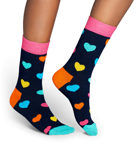 Happy Socks - Heart Sock, Bright Combo