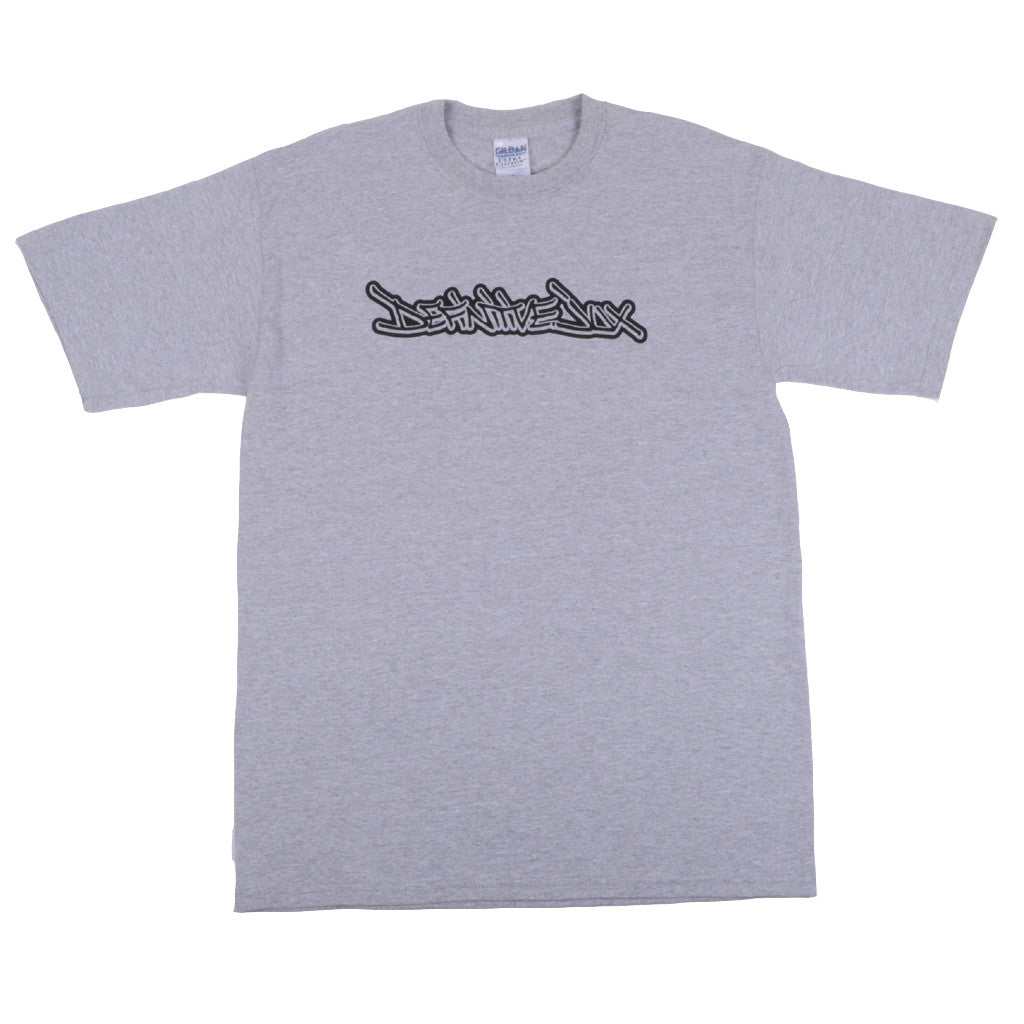 Definitive Jux - Handstyle Shirt, Heather Grey - The Giant Peach - 1
