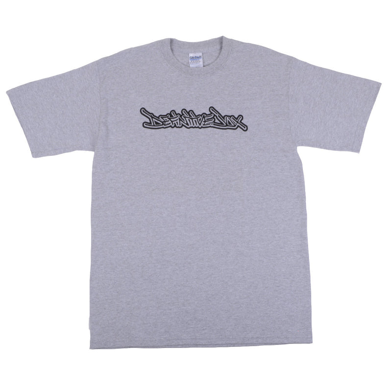Definitive Jux - Handstyle Shirt, Heather Grey - The Giant Peach