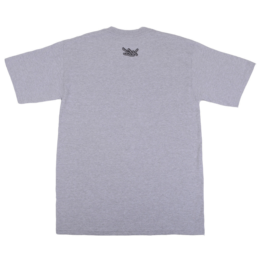 Definitive Jux - Handstyle Shirt, Heather Grey - The Giant Peach - 2