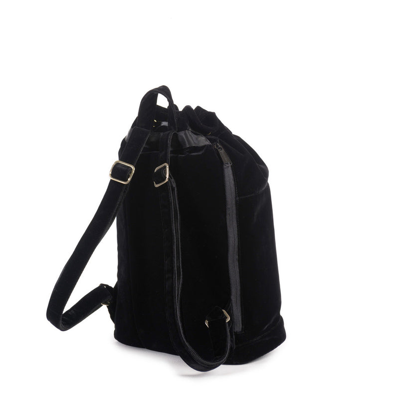 Herschel Supply Co. - Hanson Backpack, Black Velvet/Black Leather - The Giant Peach