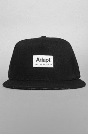 Adapt - CTA Men's Snapback 5 Panel Hat, Black - The Giant Peach