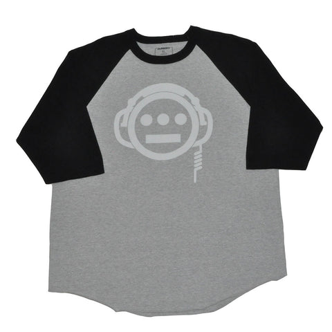 delHIERO - Headphones Men's Baseball Raglan, Black/Grey