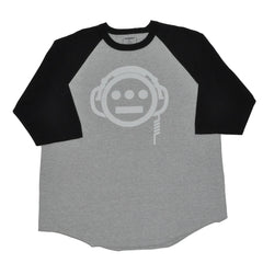delHIERO - Headphones Men's Baseball Raglan, Black/Grey - The Giant Peach - 1