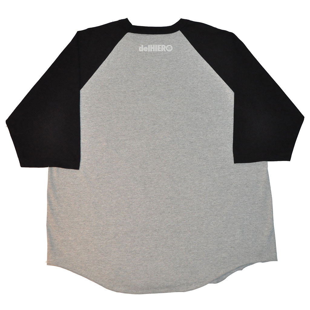 delHIERO - Headphones Men's Baseball Raglan, Black/Grey - The Giant Peach - 2